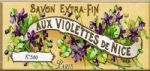 French Chic Vintage Purple Violets Shabby Metal Sign